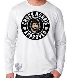 Camiseta Manga Longa Chuck Norris approved