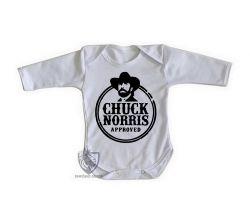 Roupa Bebê manga longa Chuck Norris Caubói