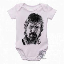 Roupa Bebê Chuck Norris face