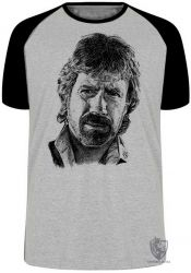 Camiseta Raglan Chuck Norris face