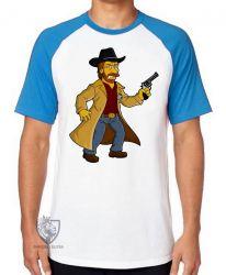 Camiseta Raglan Chuck Norris Simpsons