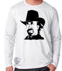 Camiseta Manga Longa Chuck Norris Texas Ranger