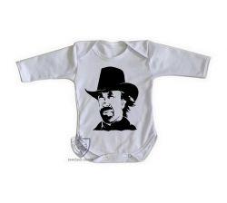 Roupa Bebê manga longa Chuck Norris Texas Ranger