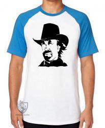 Camiseta Raglan Chuck Norris Texas Ranger