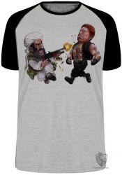 Camiseta Raglan Chuck Norris  vs  Bin Laden