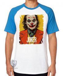 Camiseta Raglan  Coringa coloque um sorriso