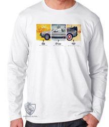 Camiseta Manga Longa De volta para o futuro DeLorean em quadros