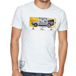 Camiseta De volta para o futuro DeLorean em quadros