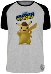 Camiseta Raglan Detetive Pikachu