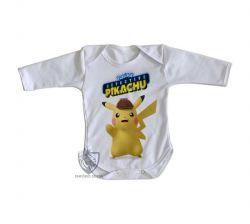 Roupa Bebê manga longa  Detetive Pikachu