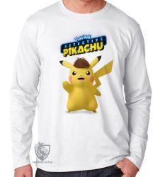 Camiseta Manga Longa Detetive Pikachu