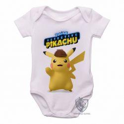 Roupa  Bebê Detetive Pikachu