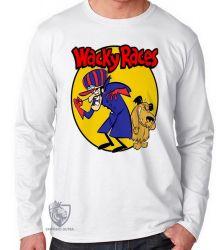 Camiseta Manga Longa Dick Vigarista Mutley amarelo