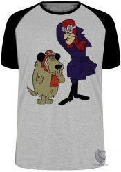 Camiseta Raglan Dick Vigarista Mutley rindo
