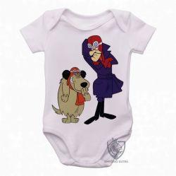 Roupa  Bebê  Dick Vigarista Mutley rindo