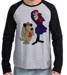 Camiseta Manga Longa Dick Vigarista Mutley rindo
