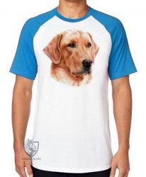Camiseta Raglan  Golden Retriever face