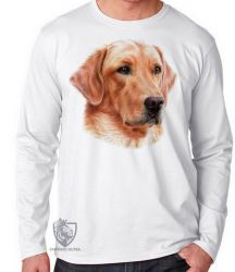 Camiseta Manga Longa  Golden Retriever face