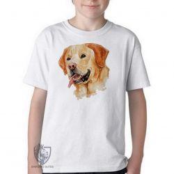 Camiseta Infantil Labrador Caramelo