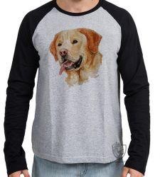 Camiseta Manga Longa  Labrador Caramelo