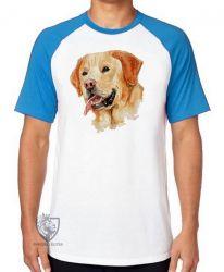 Camiseta Raglan  Labrador Caramelo