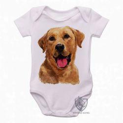 Roupa  Bebê  Labrador Caramelo língua