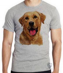 Camiseta Infantil Labrador Caramelo língua
