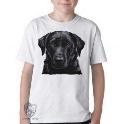Camiseta Infantil Labrador Preto
