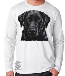 Camiseta Manga Longa  Labrador Preto