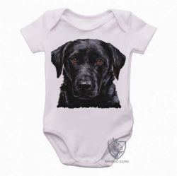 Roupa  Bebê  Labrador Preto