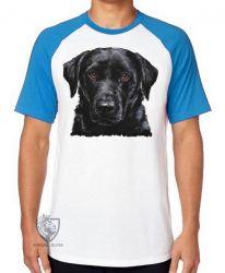 Camiseta Raglan  Labrador Preto