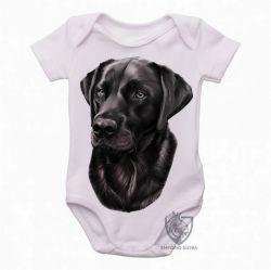 Roupa  Bebê  Labrador Preto perfil