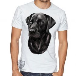 Camiseta  Labrador Preto perfil