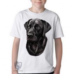 Camiseta Infantil Labrador Preto perfil