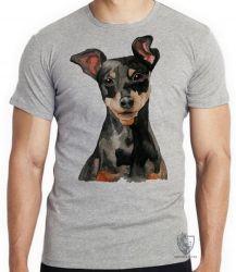 Camiseta Infantil Pinscher  orelhas