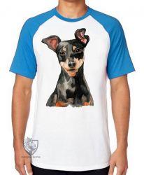 Camiseta Raglan Pinscher  orelhas