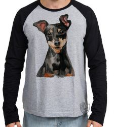 Camiseta Manga Longa Pinscher orelhas