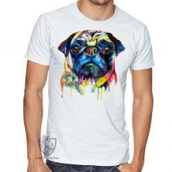 Camiseta Pug colorido