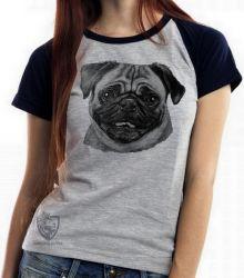 Blusa Feminina Pug descolorido