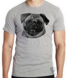 Camiseta Pug descolorido