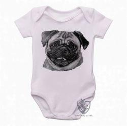 Roupa Bebê Pug descolorido