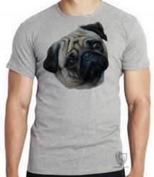 Camiseta Infantil Pug perfil