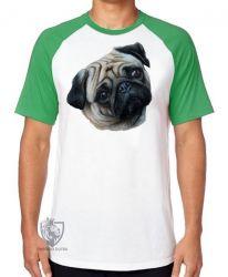 Camiseta Raglan Pug perfil