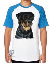 Camiseta Raglan Rottweiler sério