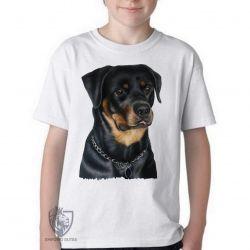 Camiseta Infantil Rottweiler sério