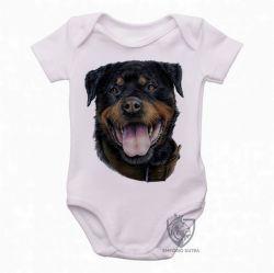 Roupa Bebê Rottweiler língua