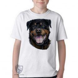 Camiseta Infantil Rottweiler língua