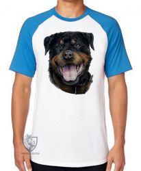 Camiseta Raglan Rottweiler língua