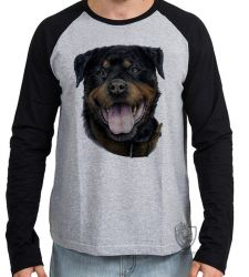 Camiseta Manga Longa Rottweiler língua