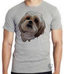 Camiseta Infantil Shih-tzu fofo